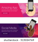 hand hold smartphone. mobile... | Shutterstock .eps vector #515034769
