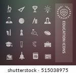 education icon set clean vector | Shutterstock .eps vector #515038975