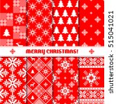 merry christmas set of... | Shutterstock .eps vector #515041021