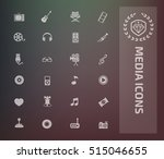 media icon set vector | Shutterstock .eps vector #515046655