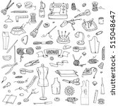 hand drawn doodle handmade... | Shutterstock .eps vector #515048647