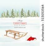 winter christmas background... | Shutterstock .eps vector #515053564