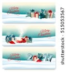 three christmas banners with... | Shutterstock .eps vector #515053567