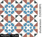 decorated vintage mosaic... | Shutterstock .eps vector #515053891