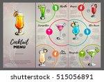 cocktail menu design | Shutterstock .eps vector #515056891