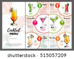 cocktail menu design | Shutterstock .eps vector #515057209