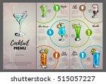 cocktail menu design | Shutterstock .eps vector #515057227