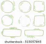 set of line wreaths  vector | Shutterstock .eps vector #515057845