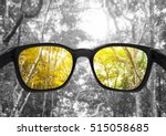glasses with forest  selected... | Shutterstock . vector #515058685