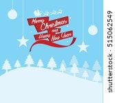 merry christmas vector... | Shutterstock . vector #515062549