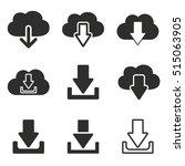 download vector icons set.... | Shutterstock .eps vector #515063905