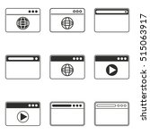 browser vector icons set. black ... | Shutterstock .eps vector #515063917