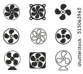 fan vector icons set. black... | Shutterstock .eps vector #515063965