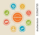 advertising. concept with icons ... | Shutterstock .eps vector #515065735
