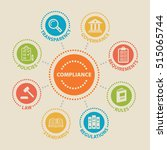 compliance. concept with icons... | Shutterstock .eps vector #515065744