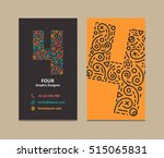 4 number logo business card | Shutterstock .eps vector #515065831