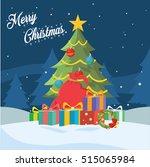christmas tree illustration... | Shutterstock . vector #515065984