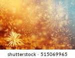 fireworks at new year and copy... | Shutterstock . vector #515069965