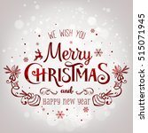 christmas and new year... | Shutterstock .eps vector #515071945