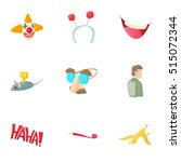 first of april icons set.... | Shutterstock .eps vector #515072344