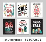 set of creative sale holiday... | Shutterstock .eps vector #515072671