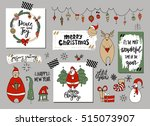set of christmas and new year... | Shutterstock .eps vector #515073907