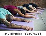 yoga practice exercise class... | Shutterstock . vector #515076865