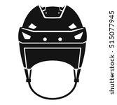hockey helmet icon. simple... | Shutterstock .eps vector #515077945