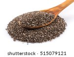 chia seeds in wooden spoon on... | Shutterstock . vector #515079121
