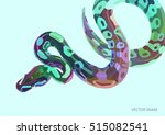 cool varicolored poster with... | Shutterstock .eps vector #515082541