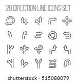 set of direction icons in... | Shutterstock .eps vector #515088079