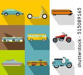 transport for movement icons... | Shutterstock .eps vector #515089165