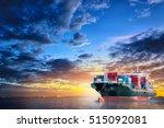 logistics and transportation of ... | Shutterstock . vector #515092081
