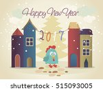 vector illustration of rooster  ... | Shutterstock .eps vector #515093005