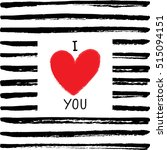 i love you card. vector i love...   Shutterstock .eps vector #515094151