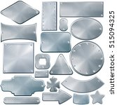 various brushed metal plates ... | Shutterstock .eps vector #515094325