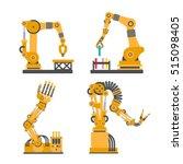 set of robotic arms  hands.... | Shutterstock .eps vector #515098405