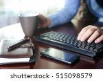 e commerce a man pays for... | Shutterstock . vector #515098579