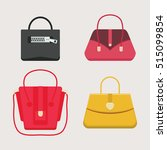 set of fashion handbags.... | Shutterstock .eps vector #515099854