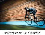 racing cyclist on velodrome | Shutterstock . vector #515100985