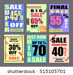 sale banner templates  posters  ... | Shutterstock .eps vector #515105701