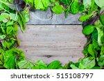 lettuce on wooden background   Shutterstock . vector #515108797