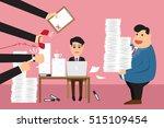 worried cartoon businessman... | Shutterstock .eps vector #515109454