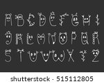 cute letters. kids alphabet....   Shutterstock .eps vector #515112805