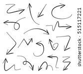 vector set arrows | Shutterstock .eps vector #515117221