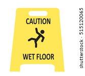 slippery wet floor icon  | Shutterstock .eps vector #515120065
