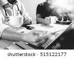 medical doctor team taking... | Shutterstock . vector #515122177