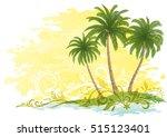 exotic landscape  green... | Shutterstock .eps vector #515123401
