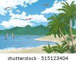 Tropical Sea Landscape  Summer...