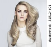 beautiful haircut. sexy woman... | Shutterstock . vector #515124601